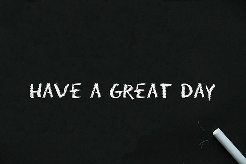 黒板(HAVE A GREAT DAY)