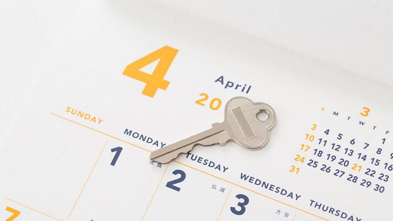 カレンダーと鍵(メインイメージ)
