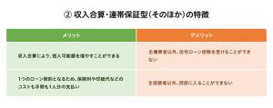 収入合算・連帯保証型(そのほか)の特徴